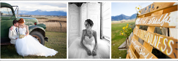 Rocky Mountain Bride Rustic Styled Shoot - Big Yellow Barn Bozeman MT Wedding