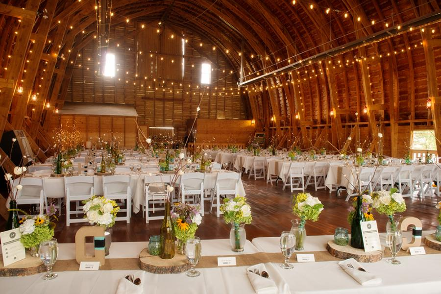 Amelia Anne Photography Big Yellow Barn Montana Wedding Rustic Chic Reception