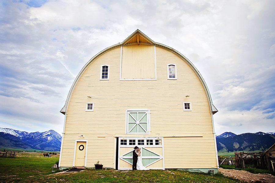 Bozeman Barn Wedding Big Yellow Barn